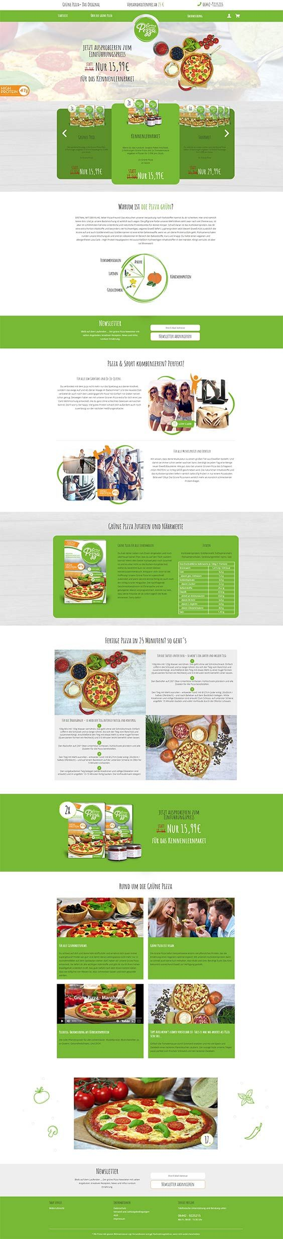 #ShopwareDesign #ShopwareTheme #ShopwareShop #eCommerce #eCommerceSoftware #eCommerceplatform #Onlineshop #Food #vegan #Blog #Template #Recipes #gruenepizza #highprotein