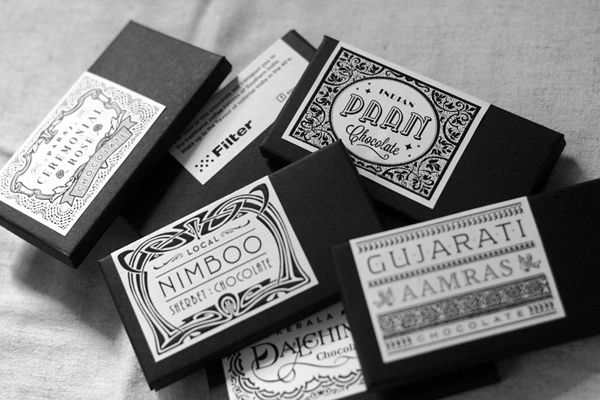 Indian chocolate packaging - obviously a unisex colour choice and the modern take on traditional Indian design works really well. I really like the choice of typography again as it also shows a modern take on the traditional styles of the country.