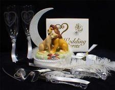Lion King Disney Wedding Cake Topper Lot Gles Server Guest Book Garter Pen Pm