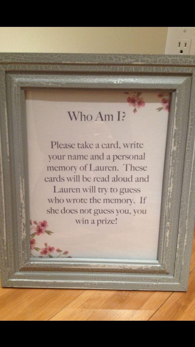 @Katie Hrubec Hrubec Braun, @jen Shirshov @Kimberly Peterson Peterson Rogers yes please!Best Bridal Shower Game