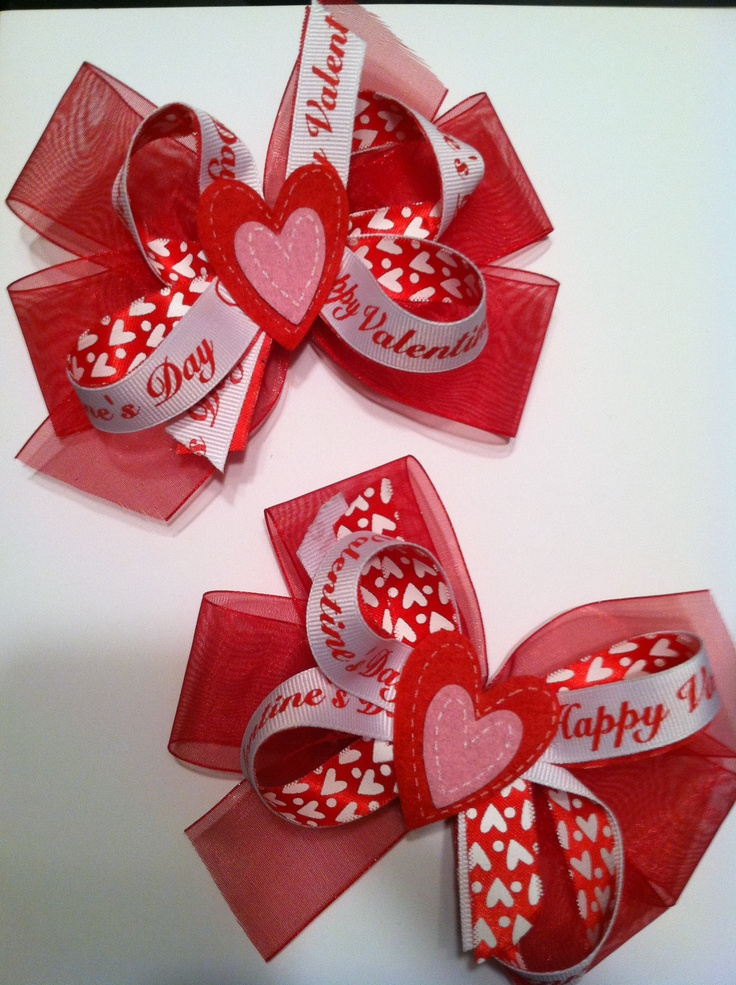 Valentine's Day Hairbows...
