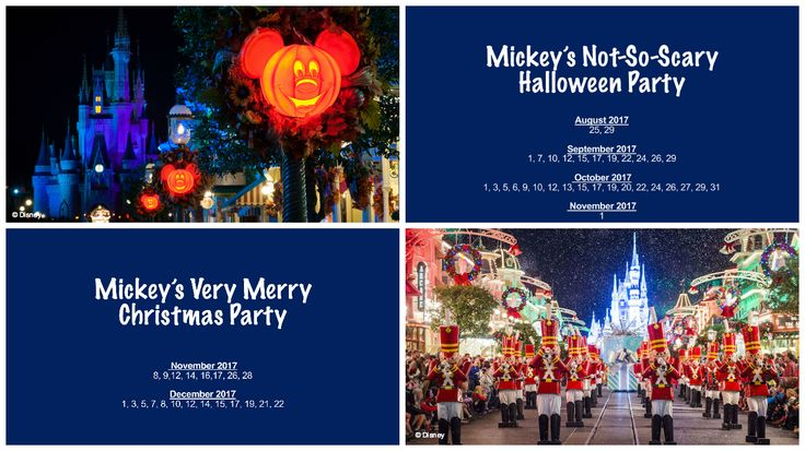 Just announced! There are 53 days of fun this fall as Mickey's Not-So-Scary Halloween Party and Mickey's Very Merry Christmas Party return to Magic Kingdom!