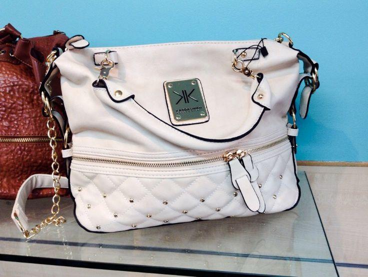 Kardashian Kollection Handbag in Cream sold by La Moda Boutique $49.95