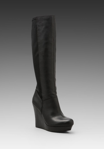 wedge boots seychelles and black leather on