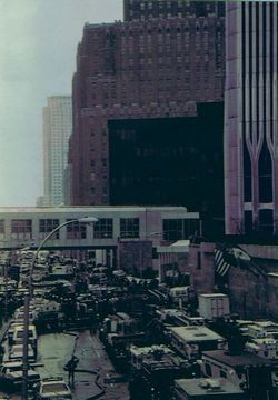 the 1993 World Trade Center bombing blew out the garage. who could imagine what was to follow 8 years later? perpetrated by Ramzi Yousef and co-conspirators.