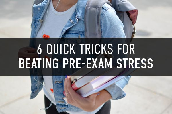 It doesn't matter how much you've studied, those pre-exam jitters are all too real! Check out these quick tricks that'll help you de-stress on exam day.