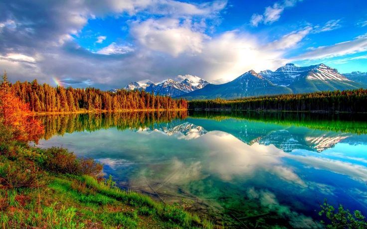 Perfect Reflection Of The Sky High Definition Wallpaper ready to download just for Free from our beautiful Nature HD Wallpapers collection.