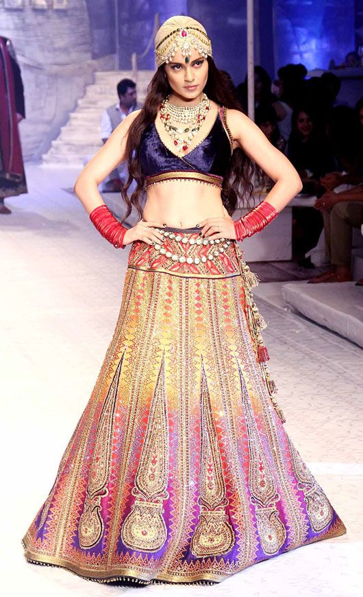 July 23, 13: Kangana Ranaut as Show Stopper for JJ Valaya http://www.valaya.com/  on Day 1 of India Bridal Fashion Week, New Delhi