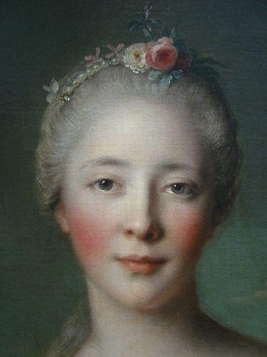 .....Madame de Caumartin as Hebe (close-up detail)    oil on canvas 1753  French  Jean-Marc Nattier (1685 - 1766)