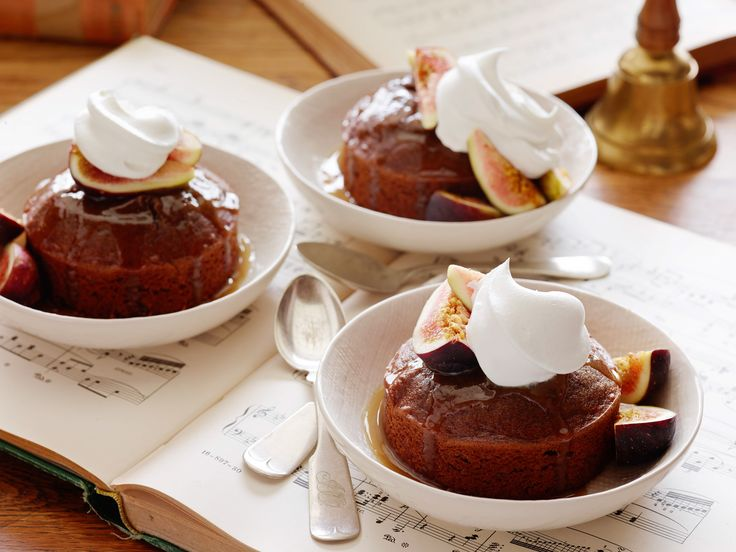 Warm Sticky Figgy Pudding Recipe : Food Network