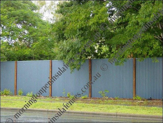 fences made with sheet metal corrugated steel fence