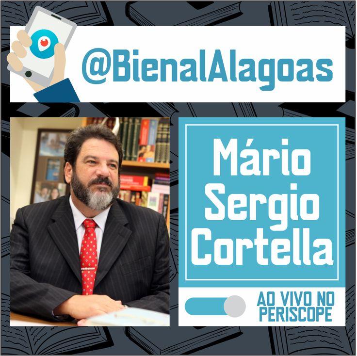 Divulgação da transmissão ao vivo do Periscope da Bienal Alagoas