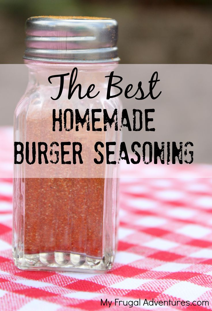 If you don't have a secret homemade hamburger seasoning recipe up your sleeve, you might try this one.  It makes a WORLD of difference on your burgers and literally takes just a second to put toget...