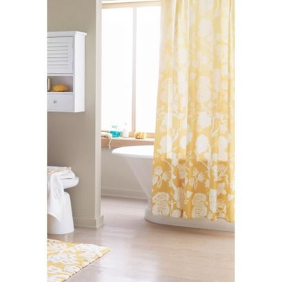 Threshold™ Shower Curtain - Yellow $20 @ target.  As of 10/25/13, all Threshold shower curtains are 5% off!!