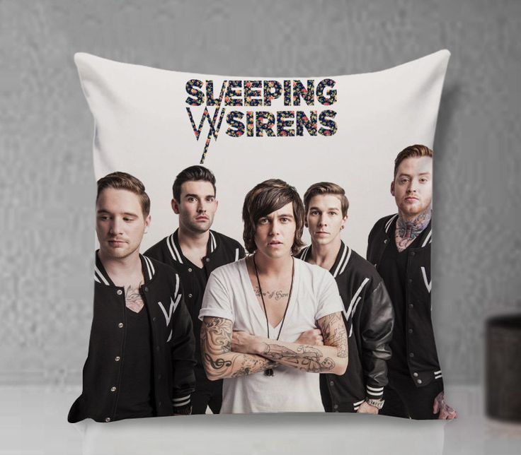 Pillow Cover - Sleeping with Sirens Pillow - Custom Pillow cover - Pillowcases by clingartshop on Etsy