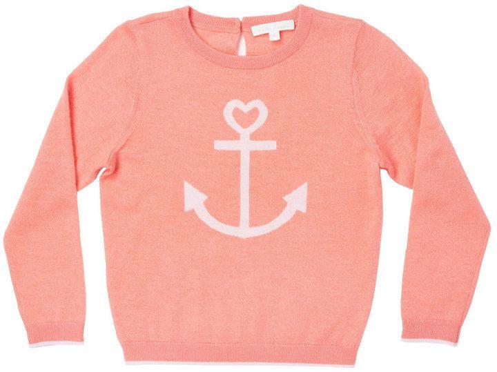 Marie Chantal Girls Summer Cashmere Anchor Sweater