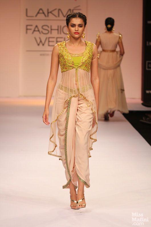 Dhoti pants and a high low choli by Shilpa Reddy. Loving it!