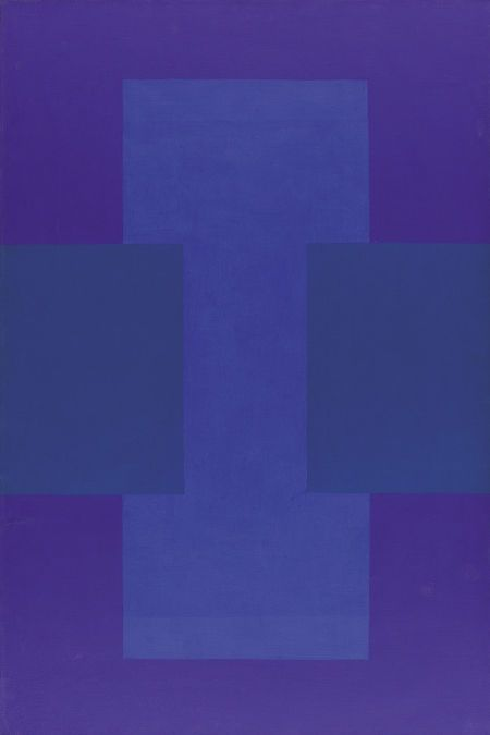 ptk: Ad Reinhardt (American, 1913 - 1967). Blue. Oil on canvas. Signed and dated 1952 LR.