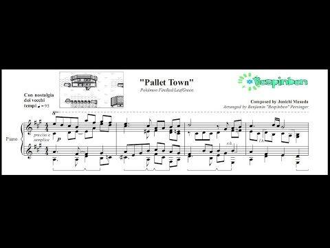 """Pokémon FireRed/LeafGreen: """"Pallet Town"""" - (Piano Sheet Music) - http://blog.pianoforbeginners.net/uncategorized/pokemon-fireredleafgreen-pallet-town-piano-sheet-music"""
