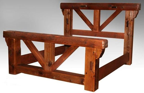 Barn wood bed frame plans woodworking projects