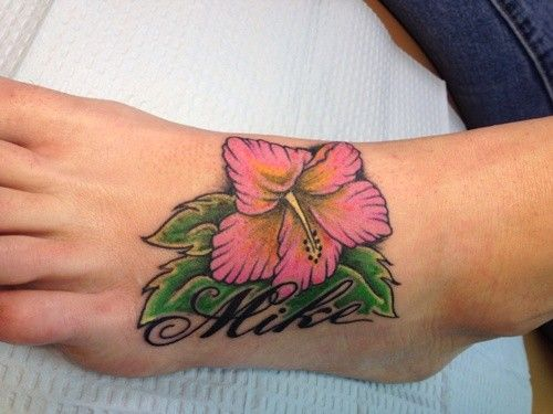 Purple Hibiscus Tattoo: 60 Best Hibiscus Flower Tattoos Images On Pinterest