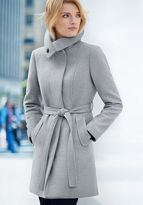 H&M Ladies Fall Outerwear Collection 2014 2015: women's fitted coat