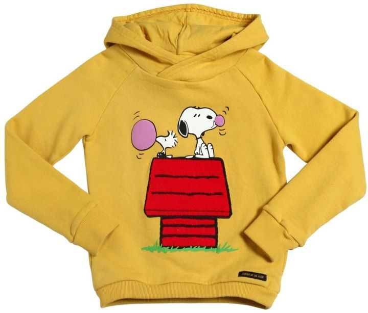 Hooded Snoopy Printed Cotton Sweatshirt, Snoopy clothing for kids, Snoopy and Woodstock love #affiliate