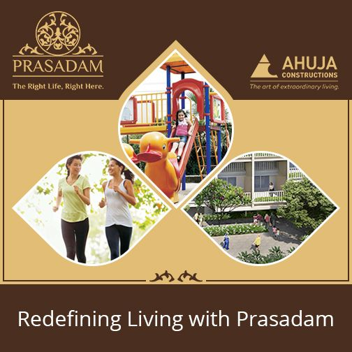 PRASADAM A modern township, thoughtfully designed for every member of family!  #Prasadam embraces a close knitted community thoughtfully planned with host of amenities for everyone.  #Smart #Living like never before
