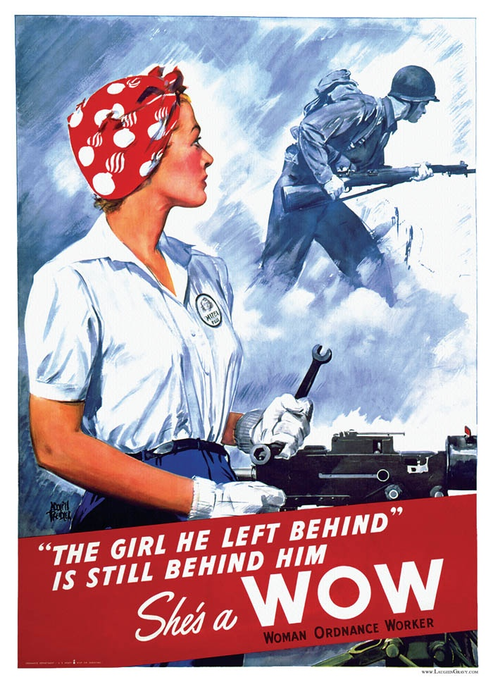 Woman Ordnance Worker: World War Ii, Girls, War Poster, Propaganda Poster, Wwii Poster, Poster Frame-Black, Worldwarii, Left Behind, 1940