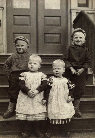 12-11-11  Dutch immigrant toddlers in traditional clothing and wooden shoes. 1917