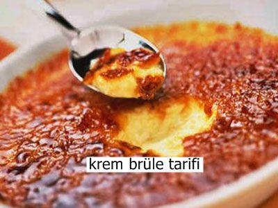Krem Brüle Tarifi  Krem brüle, Fransız mutfağına ait bir tarif. Krem brüle, yanık krema olarak da tanımlanabilir. Fransız mutfağının sevilen tatlısı, kaselerde ve soğuk olarak servis edilir.