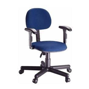 Cadeira Secretária Tecido Para Escritório Com B...