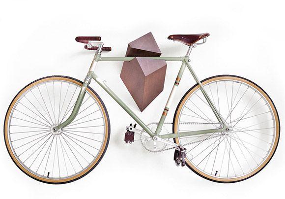 Make Steve's bike fancy wall art? Bike Hanger by Woodstick.