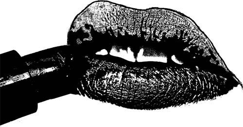 lipstick lips mouth clipart png clip art Digital Image Download graphics images digital stamp makeup printable black & white art printables