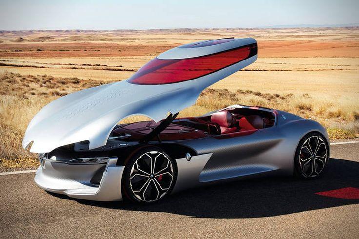 Renault vient de dévoiler la TREZOR, un impressionnant concept de voiture électrique aux lignes futuristes. CetteGT électrique imaginée par l'équipe du d