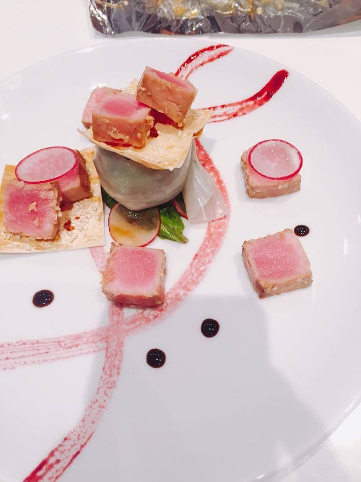 Today we made Tuna Steak at Personal Chef Armenia (Chef Margaryan). This is art, and really tasty art.
