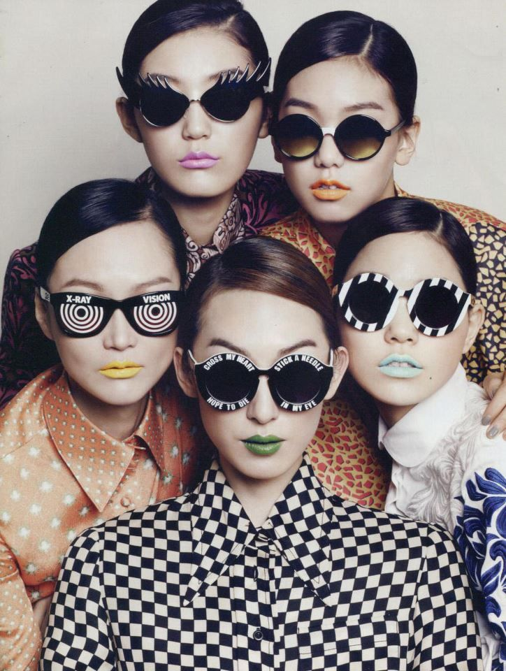 too much goodness.....JEREMY SCOTT XRAY sunglasses featured in marieclaire Korea.