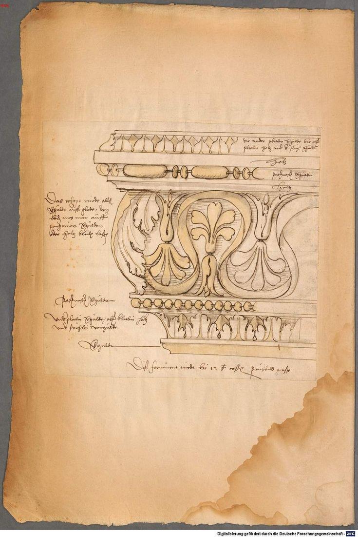 Scan der Seite 57v Architektur zeichnungen, Klassische