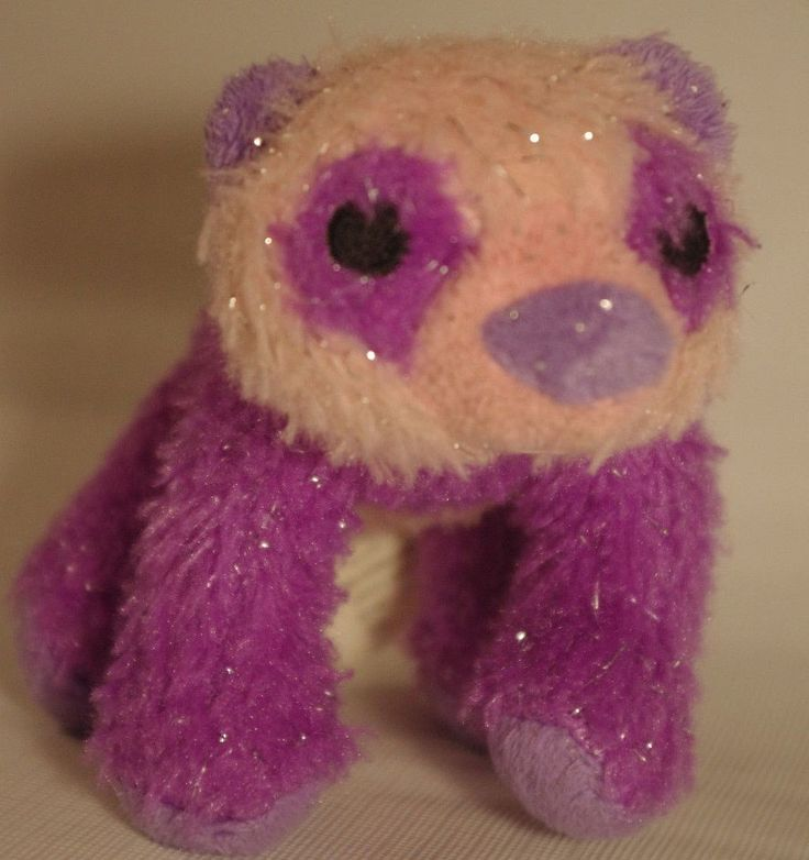 K&M International Wild Republic Purple/Pink Panda Bear Stuffed Animal Plush Toy