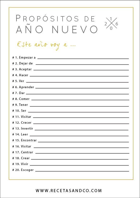 Propósitos Año Nuevo 2016   Recetas and co. (www.recetasandco.com)
