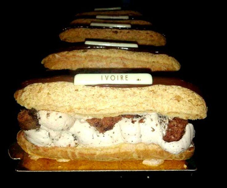 #Eclair ganache montee tanariva cookies ashanti Eclair namelaka dulcey pannacotta ivoire vanille amande caramelised #Dionisis Alertas #Ivoire Patisserie