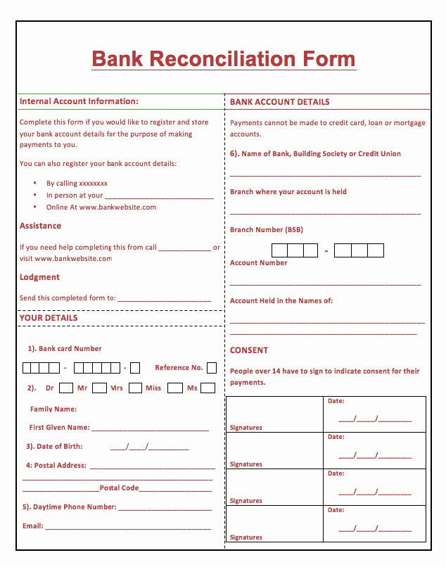 Bank Statement Reconciliation Template Elegant Bank Reconciliation Template Reconciliation Resume Template Examples Business Letter Format