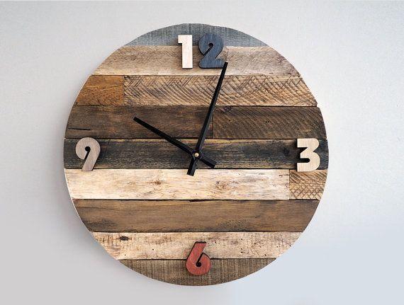 17 mejores ideas sobre relojes de madera en pinterest - Reloj pared madera ...