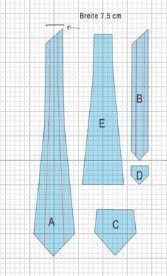 Schnittmuster Krawatte
