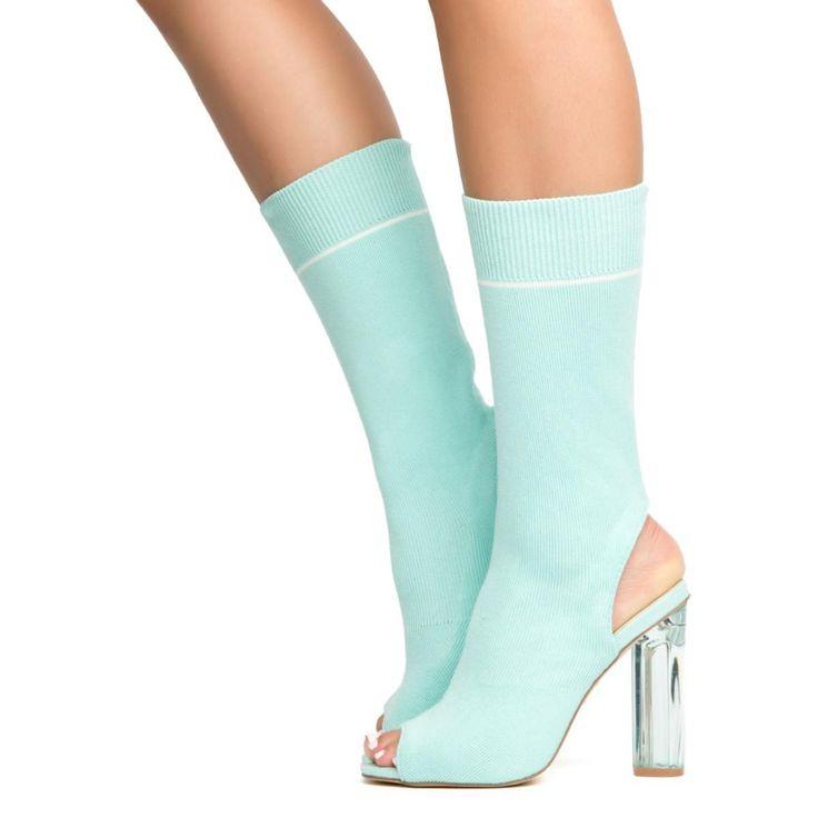 Cape Robbin Connie-39 Mint Women's High Heel Booties