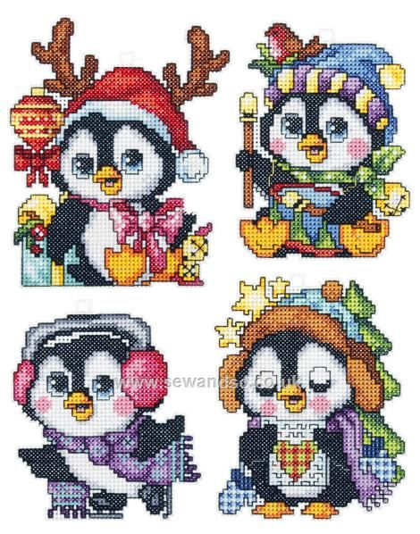 Shop online for Plastic Canvas Penguin Christmas Ornaments, Set of 4 Cross Stitch Kit at sewandso.co.uk. Browse our great range of cross stitch and needlecraft products, in stock, with great prices and fast delivery.