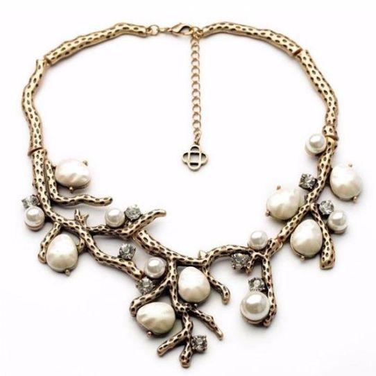 Perłowy naszyjnik - gałązki