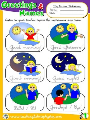 Greetings and Names - Picture Dictionary
