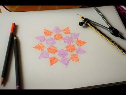How To Draw Islamic Geometric Patterns اشكال هندسية اسلامية Islamic Art Calligraphy Geometric Pattern Islamic Art