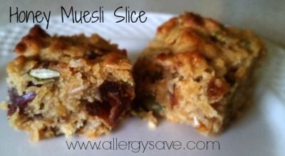 Honey Muesli Slice  http://www.allergysave.com/honey-muesli-slice/